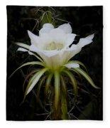 White Echinopsis Flower  Fleece Blanket