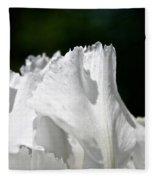 White Perfection Fleece Blanket