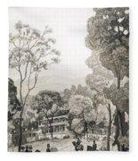 White Sulphur Springs Fleece Blanket
