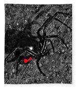 Wicked Widow - Selective Color Fleece Blanket