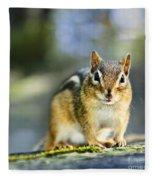 Wild Chipmunk Fleece Blanket