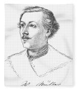 Wilhelm Mueller (1794-1827) Fleece Blanket