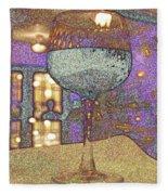 Wine Glass Fleece Blanket
