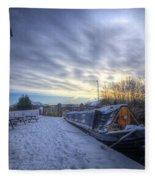 Winter At The Boat Inn Fleece Blanket