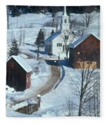 Winter Countryside Fleece Blanket