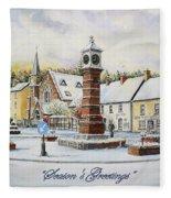 Winter In Twyn Square Fleece Blanket