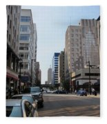 Wisconsin Ave 1 Fleece Blanket