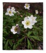 Wood Anemone Fleece Blanket