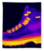 X-ray Of A Hiking Boot Fleece Blanket