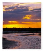 Luminous Lavenders Fleece Blanket