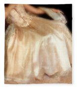 Young Lady Sitting In Satin Gown Fleece Blanket