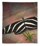 Zebra Longwing  Butterfly-2 Fleece Blanket