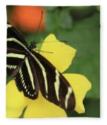 Zebra Longwing Fleece Blanket
