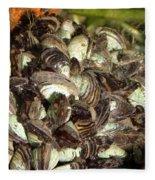 Zebra Mussels Dreissena Polymorpha Fleece Blanket