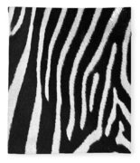 Zebra Stripes Fleece Blanket