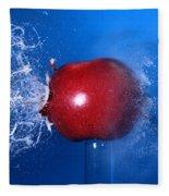 Bullet Hitting An Apple Fleece Blanket