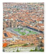 Cusco Peru Street Scenes Fleece Blanket