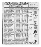 Family Almanac, 1874 Fleece Blanket
