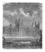 Great Britain: Parliament Fleece Blanket