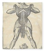 Historical Anatomical Illustration Fleece Blanket