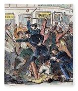 New York: Draft Riots Fleece Blanket