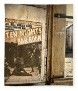 10 Nights In A Bar Room Fleece Blanket