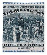 old French postage stamp Fleece Blanket