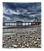 Penarth Pier Fleece Blanket