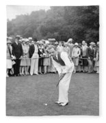 Silent Film Still: Golf Fleece Blanket