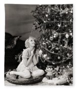 Silent Film Still Fleece Blanket