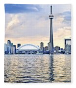 Toronto Skyline Fleece Blanket