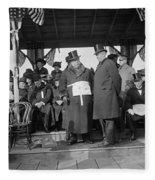 William Howard Taft Fleece Blanket