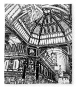 Leadenhall Market London Fleece Blanket