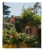 Gardens In Carmel Monastery Fleece Blanket