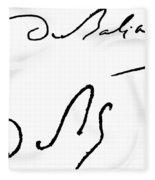 Honore De Balzac (1799-1850) Fleece Blanket