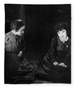 Silent Film Still: Women Fleece Blanket