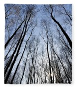 Trees In Epping Forest Fleece Blanket