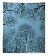 Trees In Epping Forest Fleece Blanket