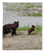 Black Bear Family Fleece Blanket