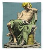 Aristotle, Ancient Greek Philosopher Fleece Blanket