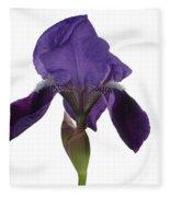 Blue Iris Blooming Fleece Blanket