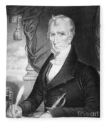 William Henry Harrison Fleece Blanket