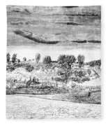 Battle Of Concord, 1775 Fleece Blanket