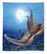 Hawaii, Day Octopus Fleece Blanket