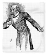 Benjamin Disraeli (1804-1881) Fleece Blanket