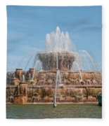 Chicago City Scenes Fleece Blanket
