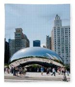 Chicago City Scenes Fleece Blanket