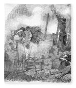 France: Revolution Of 1848 Fleece Blanket