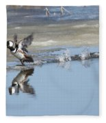 Hooded Merganser Fleece Blanket