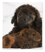 Puppy And Guinea Pig Fleece Blanket